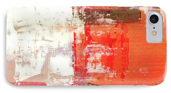 Behind The Corner - Warm Linear Abstract Painting IPhone Case by Modern Art Prints