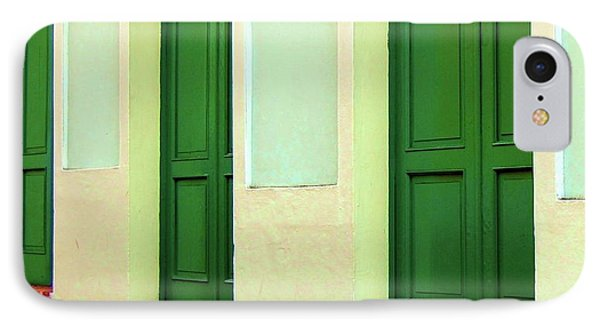 Behind The Green Doors Phone Case by Debbi Granruth
