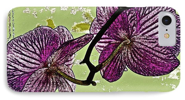 Behind The Orchids Phone Case by Gwyn Newcombe