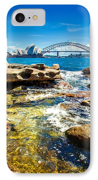 Behind The Rocks IPhone 7 Case by Az Jackson