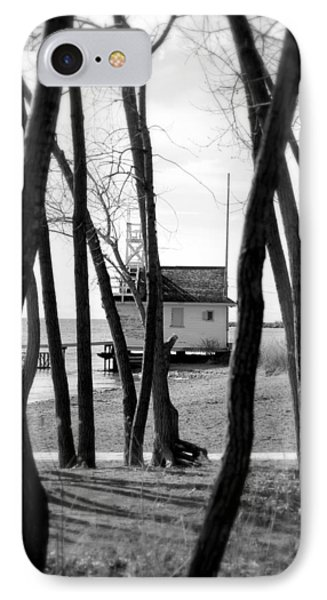 IPhone Case featuring the photograph Behind The Trees by Valentino Visentini