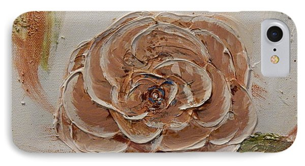 Beige Rose IPhone Case