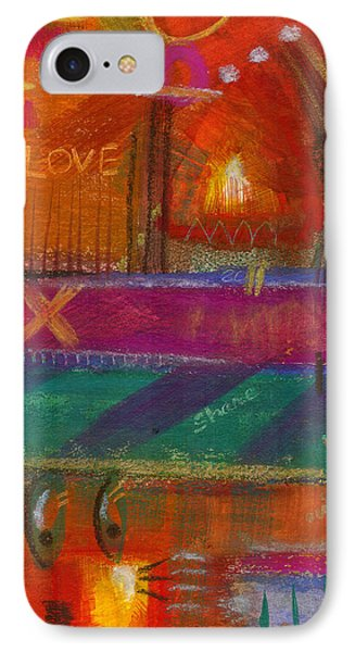 IPhone Case featuring the painting Being In Love by Angela L Walker
