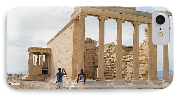 Being Photographed At The Acropolis IPhone Case by Iordanis Pallikaras
