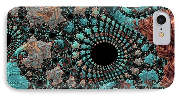 IPhone Case featuring the digital art Bejeweled Fractal by Bonnie Bruno