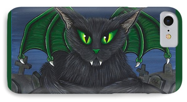 Bela Vampire Cat IPhone Case by Carrie Hawks