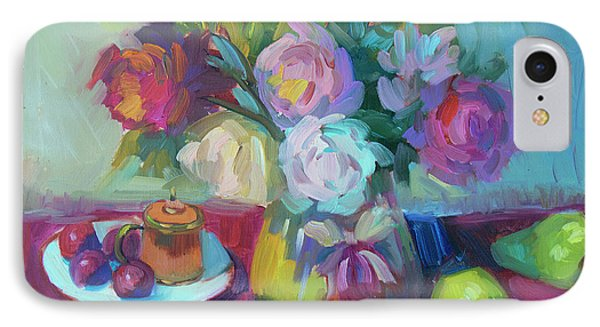 IPhone Case featuring the painting Belgian Creamer And Sugar by Diane McClary