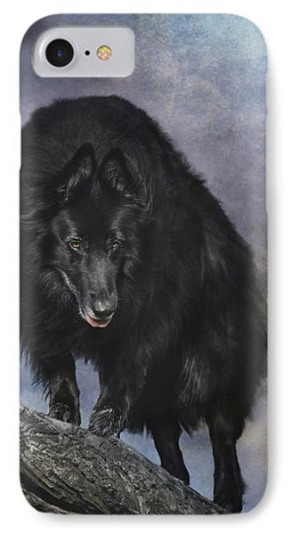 Belgian Sheepdog Art 3 IPhone Case by Wolf Shadow  Photography