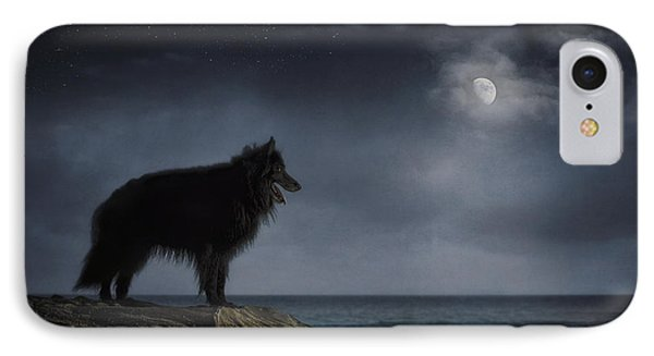 Belgian Sheepdog Art 6 IPhone Case by Wolf Shadow  Photography