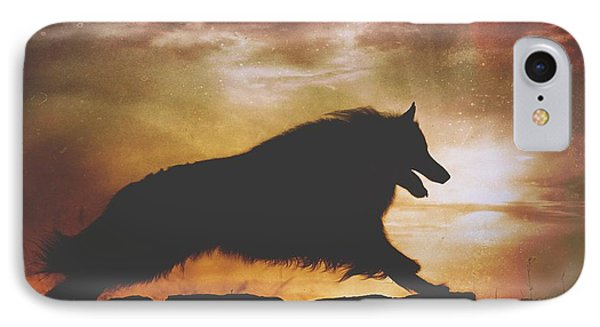 Belgian Sheepdog Art 7 IPhone Case by Wolf Shadow  Photography