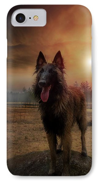 Belgian Shepherd IPhone Case by Rose-Marie Karlsen