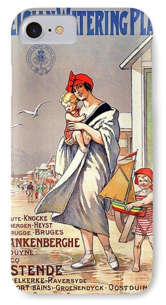 Belgium Ostende Vintage Travel Poster Restored Phone Case by Carsten Reisinger