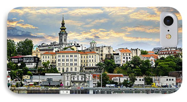 Belgrade Cityscape On Danube IPhone Case by Elena Elisseeva