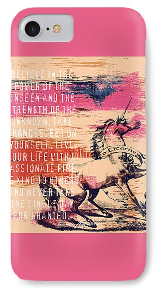 Believe In The Power Of The Unseen IPhone Case by Brandi Fitzgerald