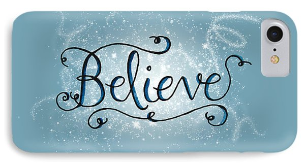Believe Winter Art IPhone Case by Michelle Eshleman