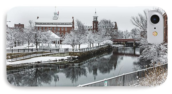 Belknap Mill After The Winter Storm IPhone Case by Robert Clifford