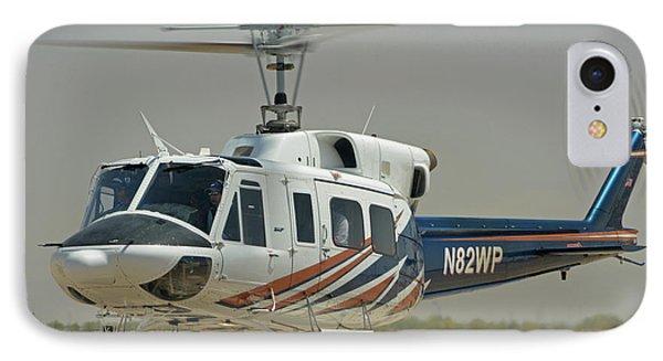 IPhone Case featuring the photograph Bell 212 N82wp Phoenix-mesa Gateway Airport Arizona April 15 2016 by Brian Lockett