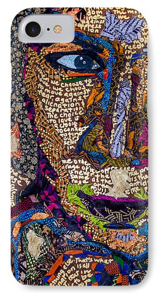 IPhone Case featuring the tapestry - textile Bell Hooks Unscripted by Apanaki Temitayo M