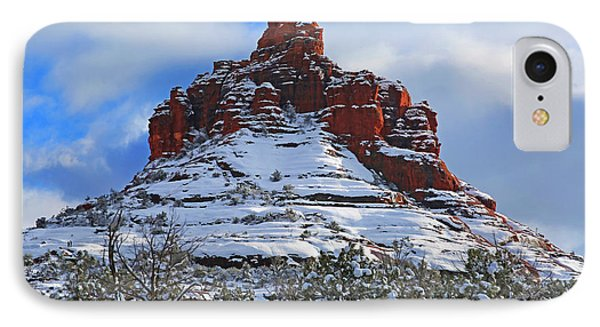 Bell Rock With Snow 2 IPhone Case