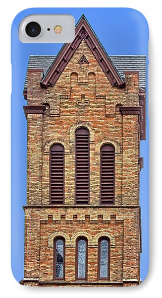 Bell Tower - First Congregational Church - Jackson - Michigan IPhone Case by Nikolyn McDonald