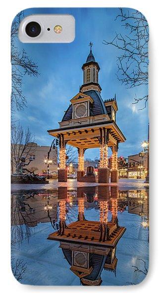 Bell Tower  In Beaver  IPhone 7 Case by Emmanuel Panagiotakis