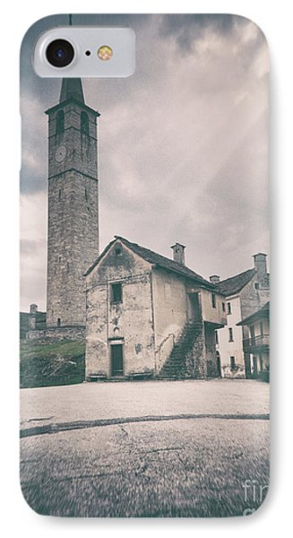 IPhone Case featuring the photograph Bell Tower In Italian Village by Silvia Ganora