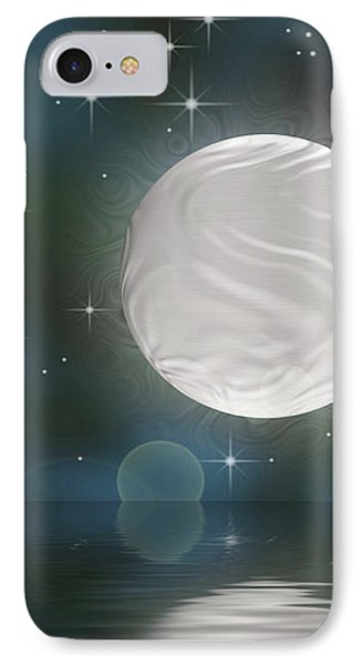 IPhone Case featuring the digital art Bella Luna by Wendy J St Christopher
