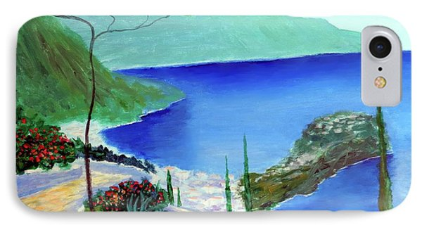 IPhone Case featuring the painting Bella Monaco  by Larry Cirigliano