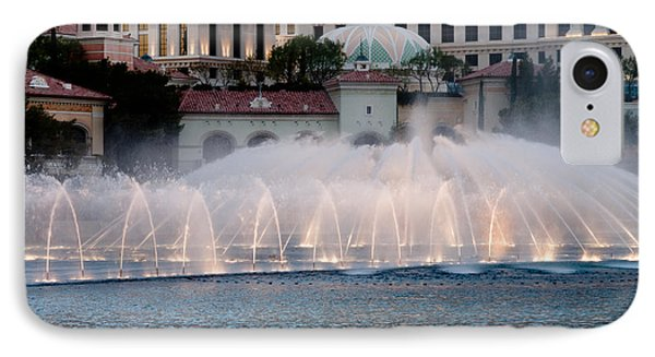 Bellagio Fountain Patterns 2 Hotel Casino Fountains Las Vegas Nevada Phone Case by Andy Smy