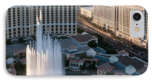 Bellagio Fountains At Dusk Phone Case by Andy Smy