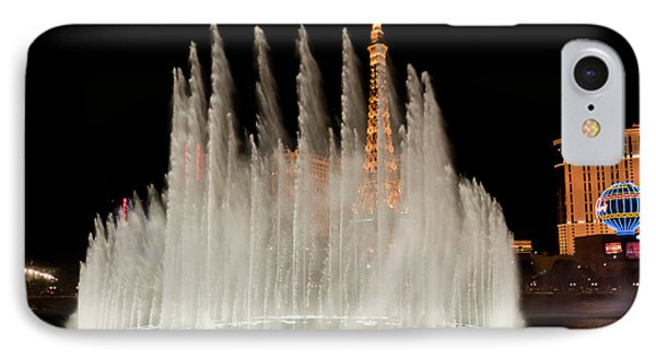 Bellagio Fountains Night 3 Phone Case by Andy Smy