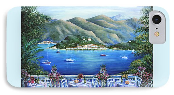 Bellagio From The Cafe Phone Case by Marilyn Dunlap