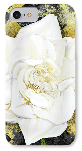 Belle, White Gardenia Blooms Amidst French Art Deco Grunge IPhone Case