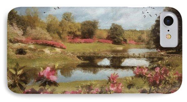 IPhone Case featuring the digital art Bellingrath Gardens by Lianne Schneider