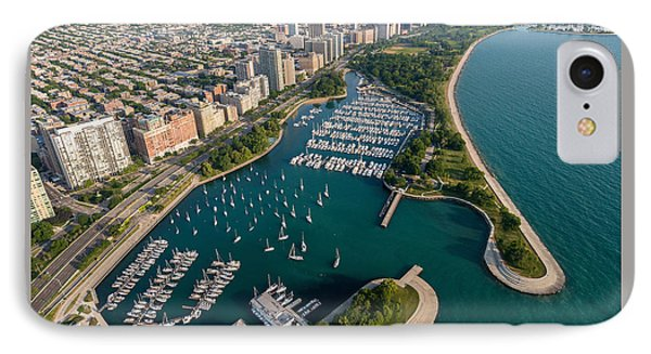 Belmont Harbor Chicago IPhone Case by Steve Gadomski