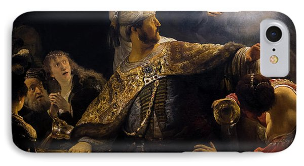 Belshazzar's Feast, By Rembrandt, Circa 1636-8,  National Galler IPhone Case