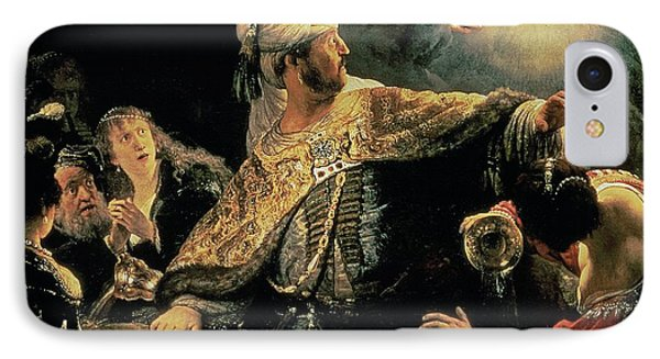 Belshazzars Feast Phone Case by Rembrandt