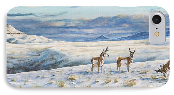 IPhone Case featuring the painting Belt Butte Winter by Kim Lockman