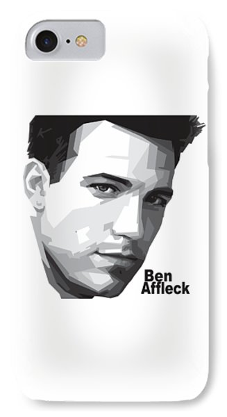 Ben Affleck Portrait Art IPhone Case by Madiaz Roby