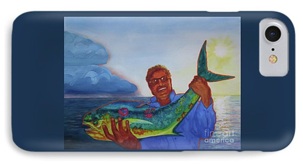 Ben And The Dolphin Fish IPhone Case by Kathy Braud