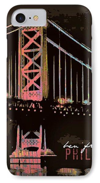 Ben Franklin Bridge Philadelphia IPhone Case by Brandi Fitzgerald