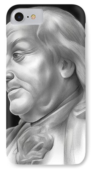 Ben Franklin IPhone Case by Greg Joens