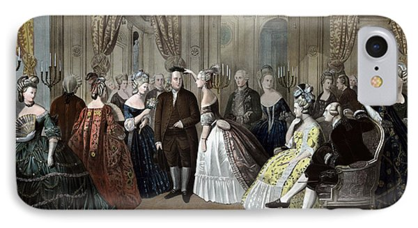 Ben Franklin's Reception At The Court Of France  IPhone Case