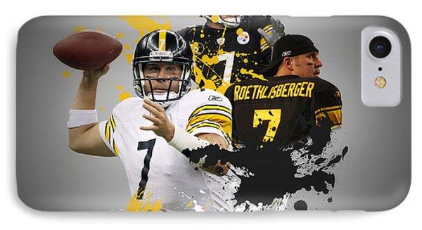 Ben Roethisberger Steelers IPhone Case by Joe Hamilton