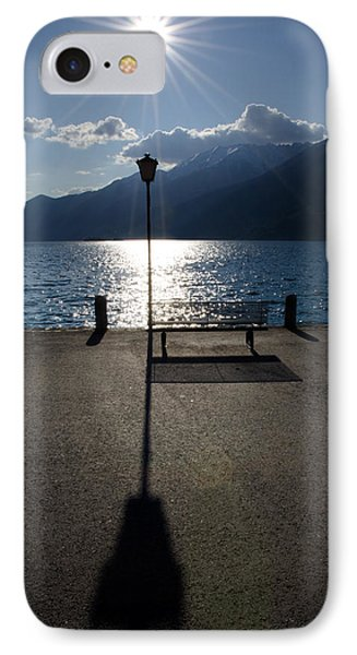 Bench And Street Lamp Phone Case by Mats Silvan
