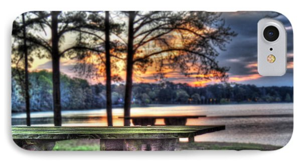 Bench By Lake IPhone Case