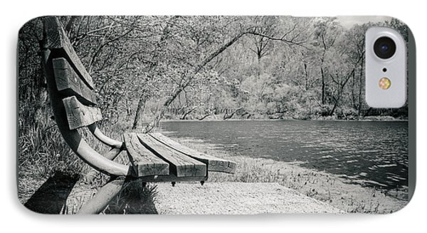 Bench By The Water IPhone Case by Amy Turner