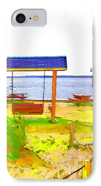 Bench In Nature By The Sea 3 IPhone Case by Lanjee Chee