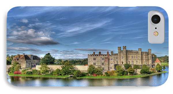 Bench View Of Leeds Castle IPhone Case