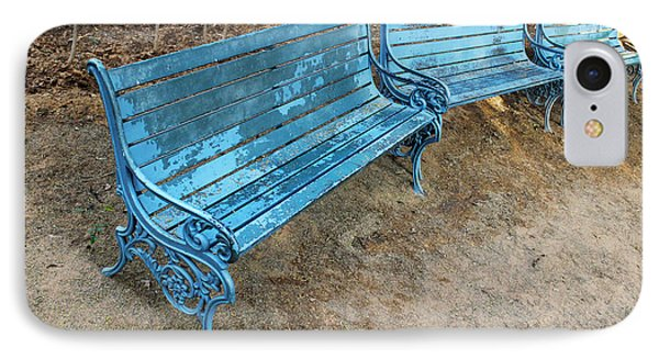 Benches And Blues IPhone Case by Prakash Ghai